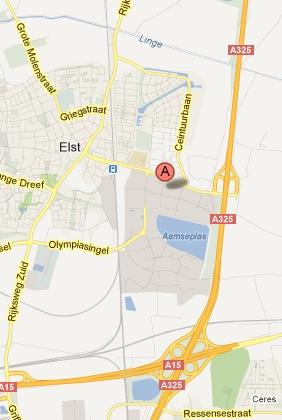 Knooppunt vestiging Elst map